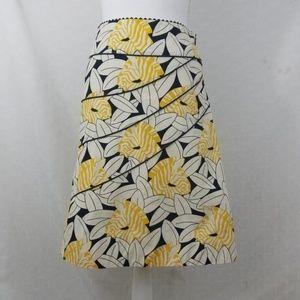 Odille Zebra safari A-line Skirt floral career 0